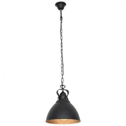 czarna lampa wisząca na łańcuchu