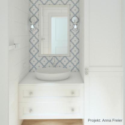 łazienka w stylu nowojorskim hampton