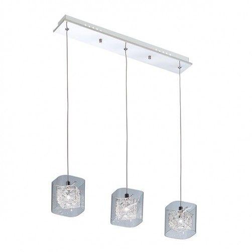 Elegancka lampa wisząca Roxy - szklane klosze z kryształkami