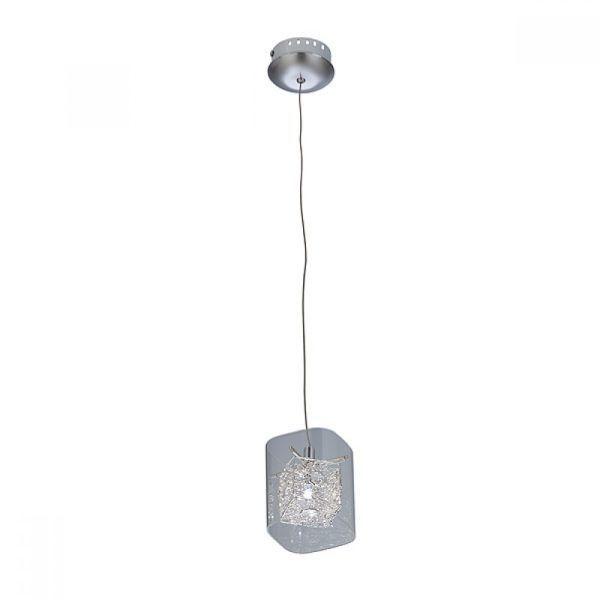 lampa wisząca ze szklanym kloszem glamour