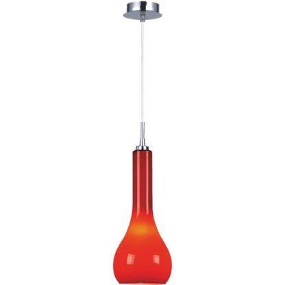 czerwona lampa wisząca