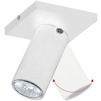 Reflektor sufitowy Slim - biały, z regulacją