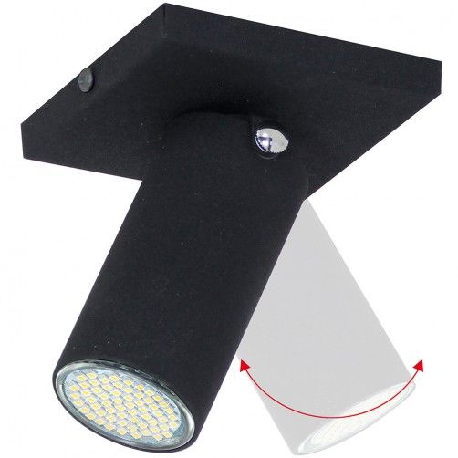 regulowany czarny reflektor sufitowy