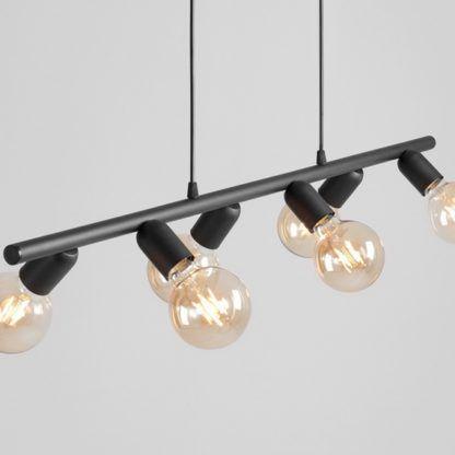 lampa wisząca podłużna bez kloszy