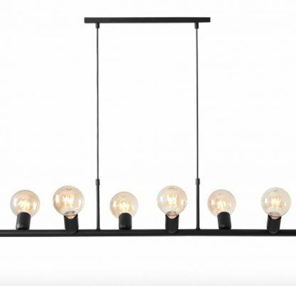 podłużna lampa z ozdobnymi żarówkami