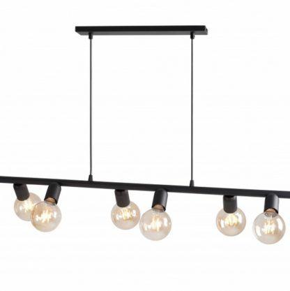 podłużna lampa 6 żarówek