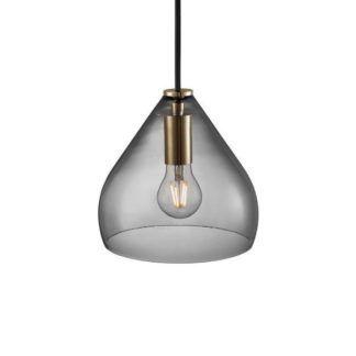 Szklana lampa wisząca Sence 16 - Nordlux - DFTP - szary klosz