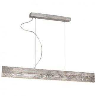 Oryginalna lampa wisząca Tuta - drewniana listwa, LED