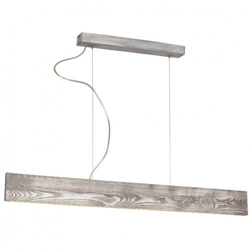 nowoczesna lampa ledowa, drewniana listwa