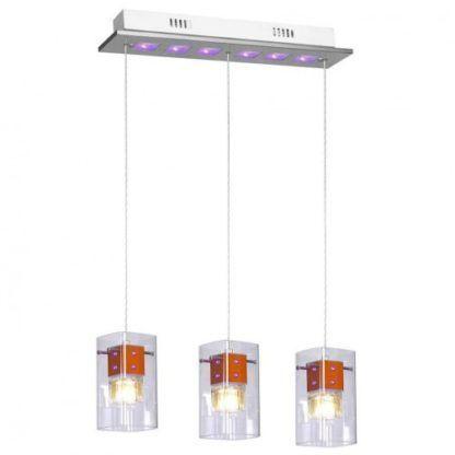 Nowoczesna lampa wisząca Velvet - 3 transparentne klosze