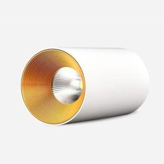 Biały plafon Agate - metalowa tuba, LED