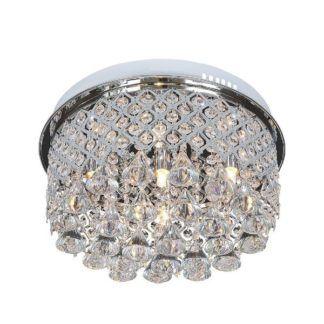 Okrągły plafon Amapola - ozdobne kryształki w srebrnej oprawie