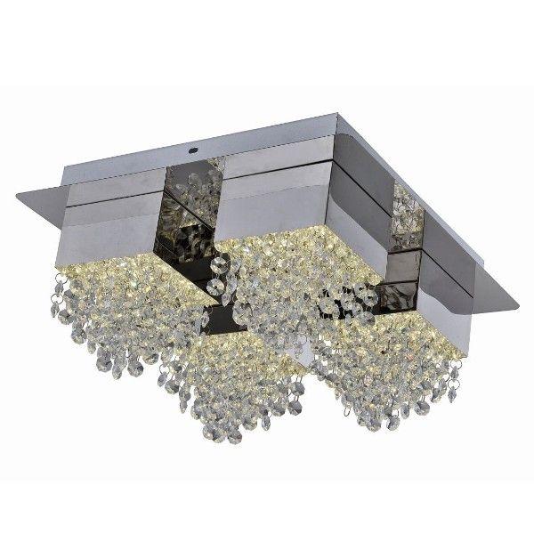 lampa sufitowa z kryształkami