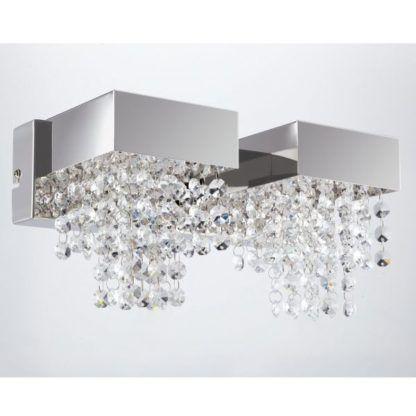 nowoczesny kinkiet z kryształkami