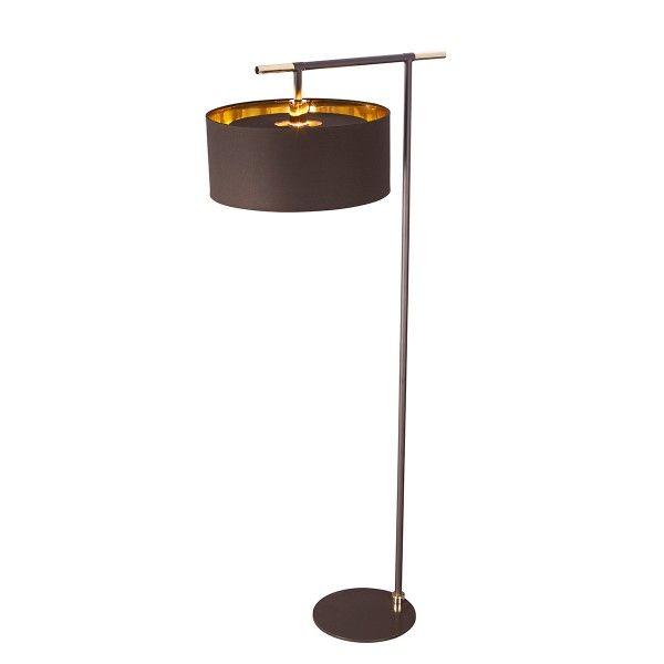 lampa podłogowa brązowy abażur