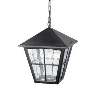 Lampa wisząca Edinburgh - szklana, czarna oprawa
