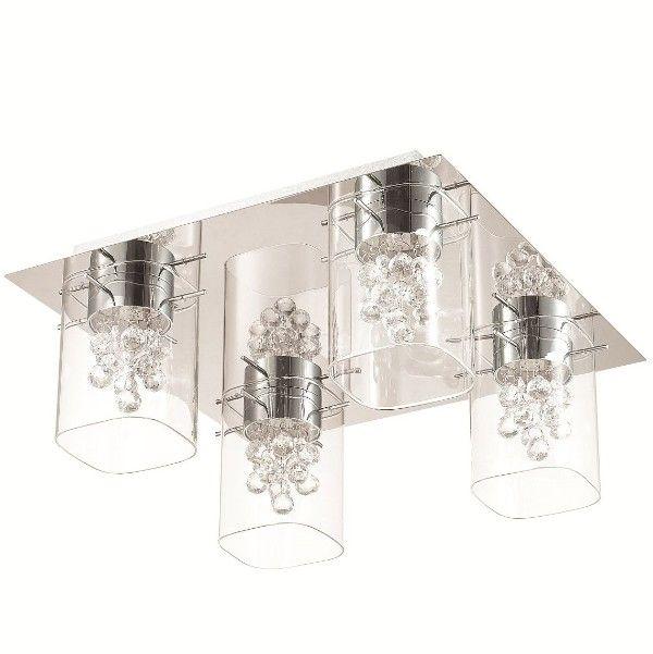szklany plafon z kryształkami