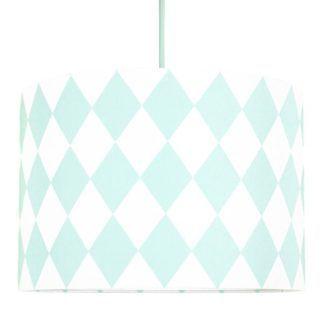 Lampa wisząca Romby - miętowo-biały motyw