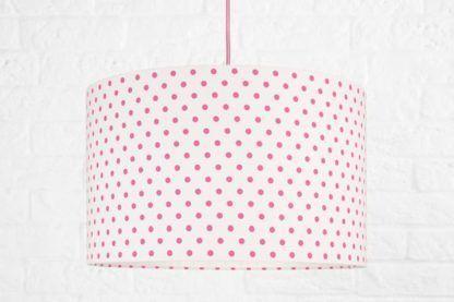 lampa wisząca w różowe groszki