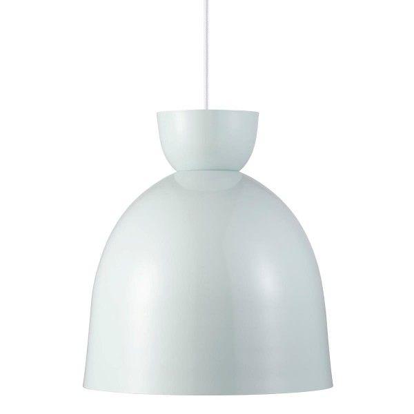 lampa wisząca zaokrąglona, z metalu, styl skandynawski