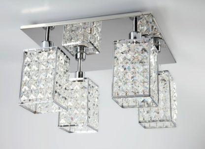lampa sufitowa w stylu glamour