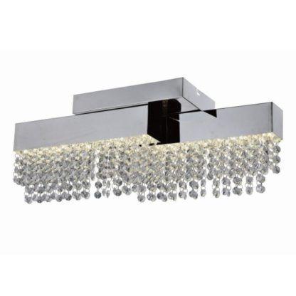 lampa sufitowa ze zwisającymi kryształami