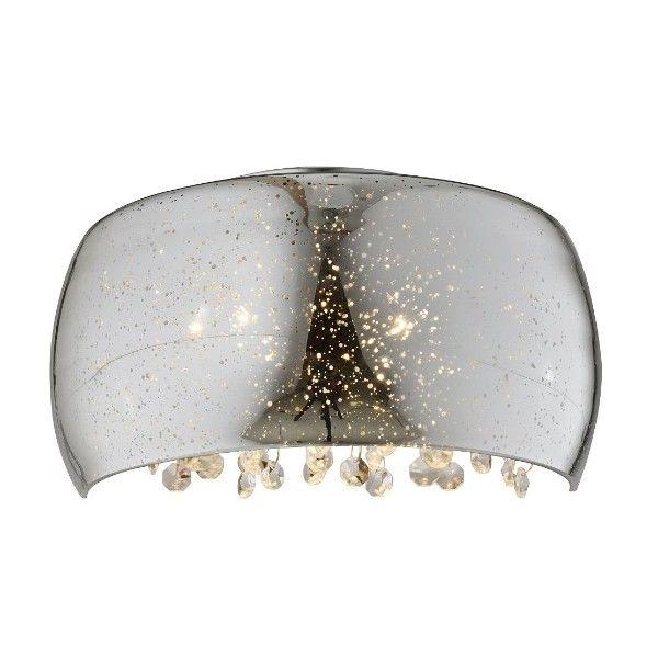 kinkiet szklany z kryształkami