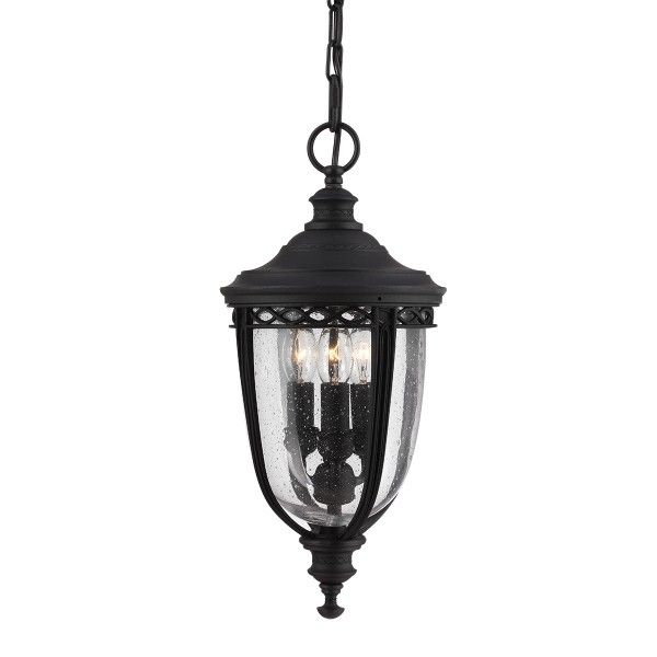 klasyczna lampa wisząca zewnętrzna