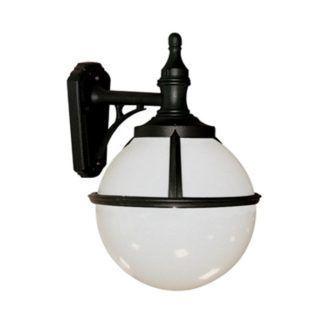 Elegancki kinkiet Glenbeigh - biały, szklany klosz, IP44