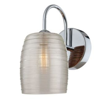 Efektowny kinkiet Globi - szklany klosz, srebrny