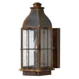Dekoracyjny kinkiet zewnętrzny Bingham - brązowy lampion, IP44