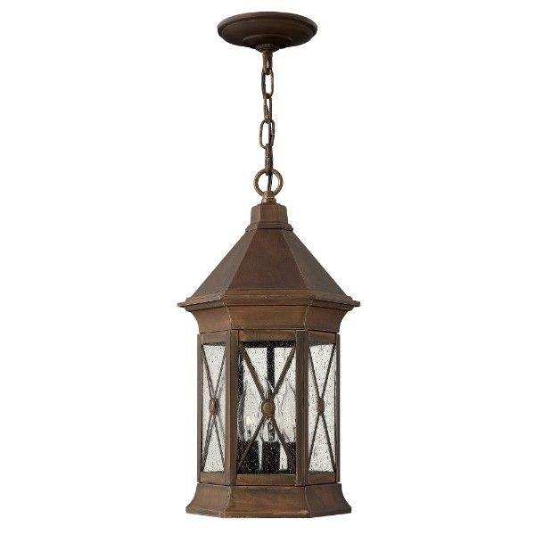 klasyczna lampa wisząca przed dom