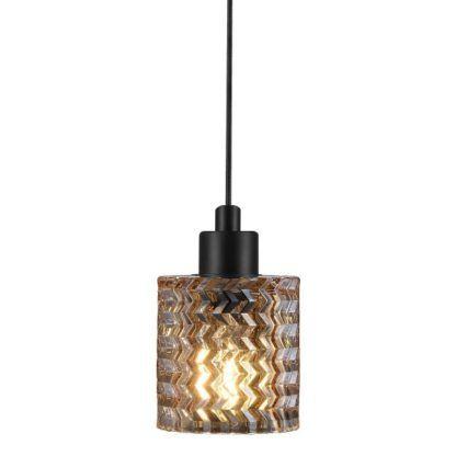 lampa wisząca bursztynwe szkło