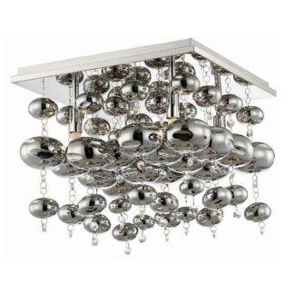 Oryginalna lampa sufitowa Infinity - srebrna, szklane kuleczki