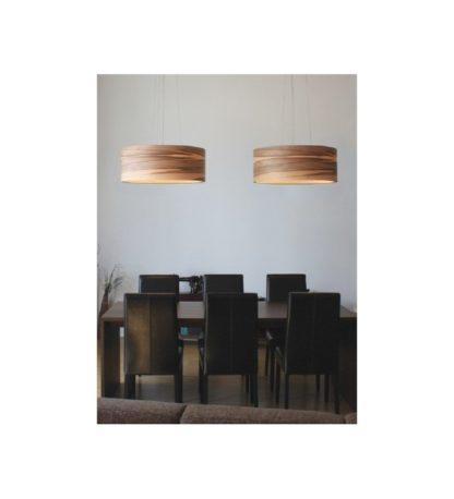 drewniane lampy wiszące scandi