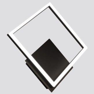 Dekoracyjny kinkiet Lorenzo - czarny romb