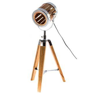 Oryginalna lampa stołowa Passion - drewniany trójnóg