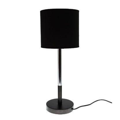 czarna lampa stołowa elegancka