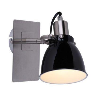 czarny kinkiet reflektor