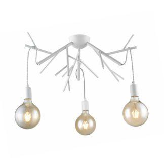 Nowoczesna lampa sufitowa Nardo - biała, scandi