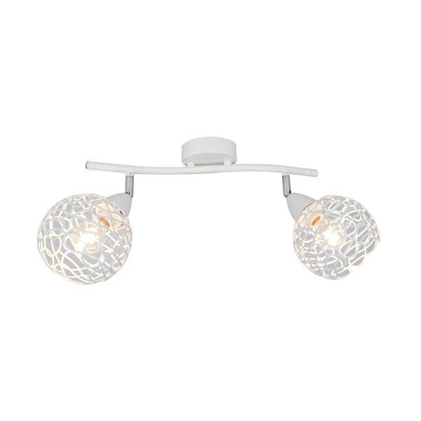 podwójna biała lampa sufitowa owoczesna