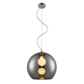 Szklana lampa wisząca Vero - kula, nowoczesna