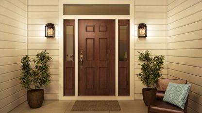 aranżacja oświetlenie drzwi wejściowych