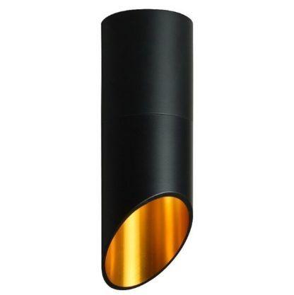 czarna tuba nowoczesna lampa sufitowa