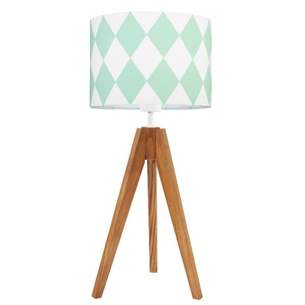 drewniany trójnóg lampa dziecięca