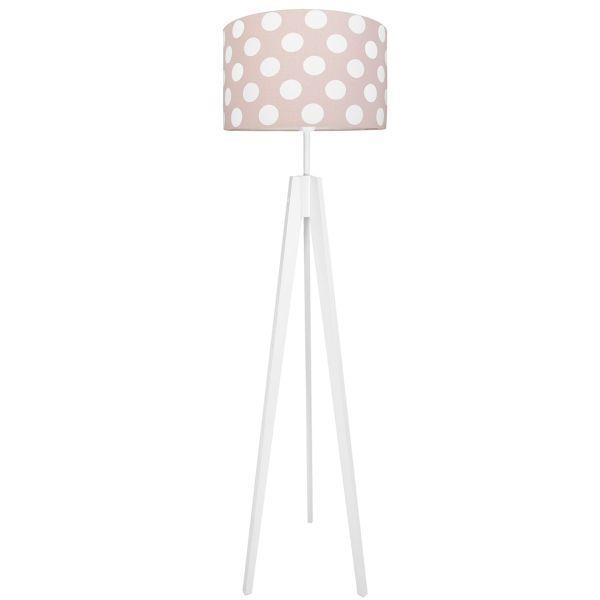 lampa podłogowa do pokoju dziewczynki biel i róż