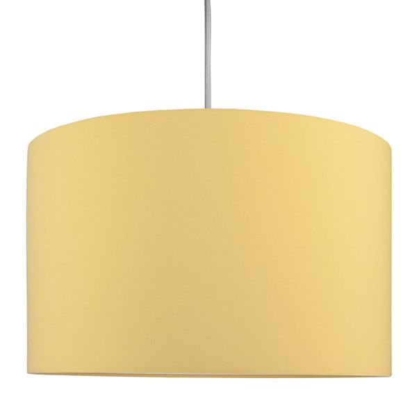 musztardowa lampa wisząca z abażurem