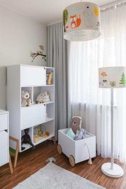 kolorowa lampa do pokoju dziecka aranżacja