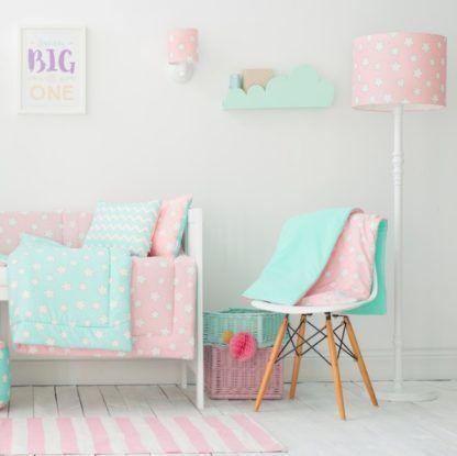 różowa lampa podłogowa dziecięca