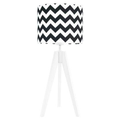 lampa stołowa biało-czarna nowoczesna